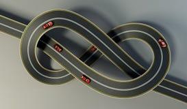 De weg bond bungle vast vector illustratie