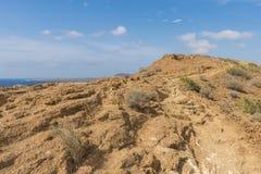 De weg bovenop een heuvel Stock Afbeeldingen
