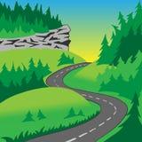 De weg in de heuvels Royalty-vrije Stock Afbeelding