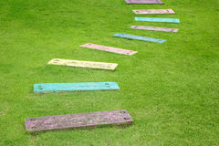De weg in de tuin. Royalty-vrije Stock Afbeeldingen