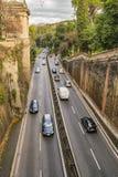 De Weg die van Rome het Park van Villaborghese, Rome, Italië kruisen Royalty-vrije Stock Afbeelding