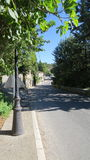 De Weg in Gordes Luberon Frankrijk Royalty-vrije Stock Fotografie