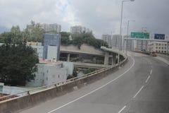 de weg in Hong Kong 2016 Stock Foto's