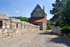 De weg langs het kasteel in Boedapest Hongarije Stock Fotografie