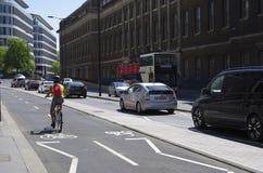 De weg in Londen Stock Foto