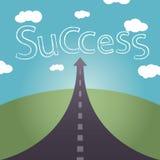 De weg naar het succes is geen verre en bewolkte hemel Royalty-vrije Stock Afbeeldingen
