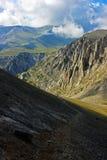 De weg omhoog de berg Olympus Royalty-vrije Stock Fotografie