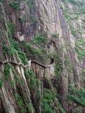 De weg over de afgrond Huang Shan Royalty-vrije Stock Foto's