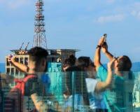De Weg Sao Paulo Nemayer van Brazilië Paulista stock afbeelding