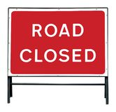 De weg sloot teken Stock Afbeeldingen