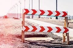 De weg sloot de weg van de tekenklem Stock Foto