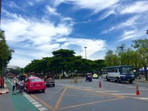 De Weg in Thailand Stock Foto's