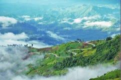 De weg tot berg Stock Foto's