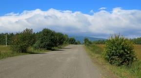 De weg tot de bovenkant van de berg Royalty-vrije Stock Foto
