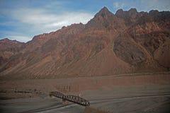 De weg tussen Satiago DE Chili en Buenos aires Royalty-vrije Stock Afbeeldingen