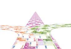 De weg uit het geld, de keus van weg Stock Afbeelding