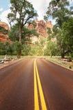 De weg in Utah, de V.S. Royalty-vrije Stock Fotografie