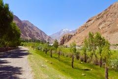 De weg in vallei Stock Foto's