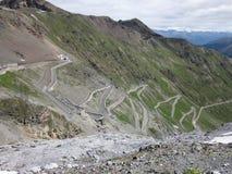 De weg van alpen Royalty-vrije Stock Afbeelding