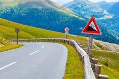 De weg van alpen Royalty-vrije Stock Foto