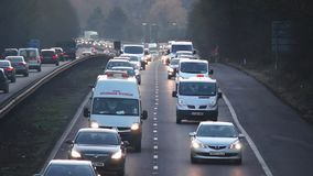 De weg van de weg autobahn autosnelweg stock video