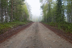 De weg van Backwood Stock Foto