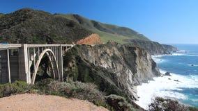 De weg van Californië Cabrillo stock videobeelden