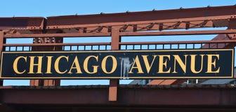 De Weg van Chicago Stock Afbeelding