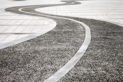 De weg van Cobbled Stock Foto