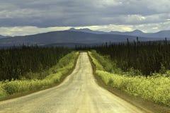 De Weg van Dalton, Alaska stock afbeelding