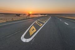 De weg van de asfaltteer in Zuid-Afrika Royalty-vrije Stock Foto