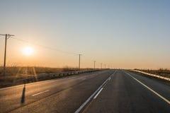 De weg van de asfaltteer in Zuid-Afrika stock fotografie