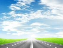 De weg van de auto royalty-vrije stock afbeelding