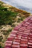 De weg van de baksteen Stock Afbeeldingen