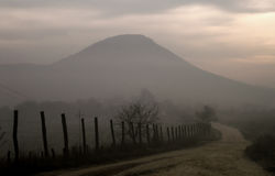 De weg van de berg Royalty-vrije Stock Foto's