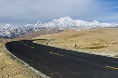 De weg van de berg Stock Afbeeldingen