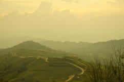 De weg van de berg. Stock Afbeeldingen