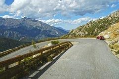 De weg van de berg in Corsica Stock Foto