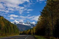 De Weg van de berg in de Herfst Stock Foto