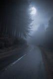 De weg van de berg bij nacht Stock Foto's