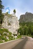 De weg van de berg, Dolomiet Royalty-vrije Stock Afbeelding