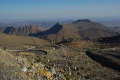 De weg van de berg, Oman Royalty-vrije Stock Foto's