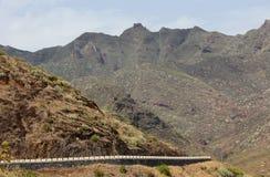 De weg van de berg op Tenerife (Canarische Eilanden) Royalty-vrije Stock Afbeeldingen