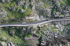 De weg van de berg in Toledo Stock Foto's