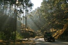 De weg van de berg in uttaranchal Royalty-vrije Stock Foto's