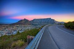 De Weg van de Berg van de lijst stock foto's