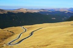 De Weg van de Berg van Transalpina Royalty-vrije Stock Foto's