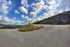 De weg van de bergweg Stock Foto