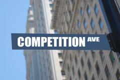 De weg van de concurrentie Stock Foto