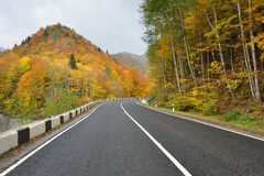 De weg van de de herfstberg Stock Afbeelding